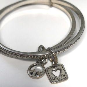 BRIGHTON Silver bangles